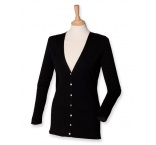 H723-BL-4XL - Henbury•Henbury•LADIES` LIGHTWEIGHT V-NECK CARDIGAN